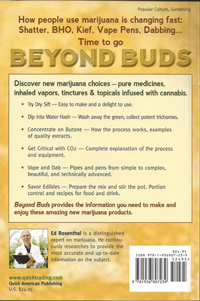 BEYOND BUDS: MARIJUANA EXTRACTS
