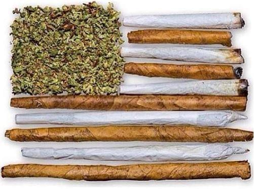 Cannabis blunts usa flag