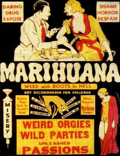 Old Vintage Anti Cannabis Propaganda posters