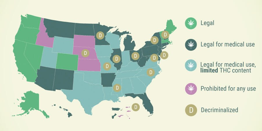 Where Is Cannabis Legal In The USA