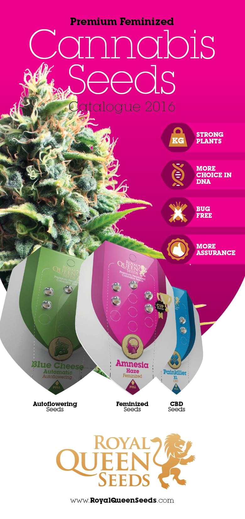 Download onze Cannabiszaadbedrijf Catalogus in PDF:
