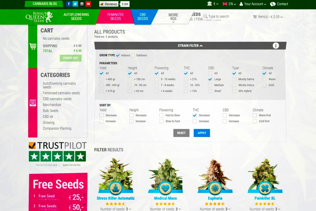 Introducing The Royal Queen Seeds Cannabis Strain Finder!